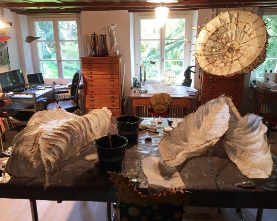 Aktuelle Arbeiten im Atelier